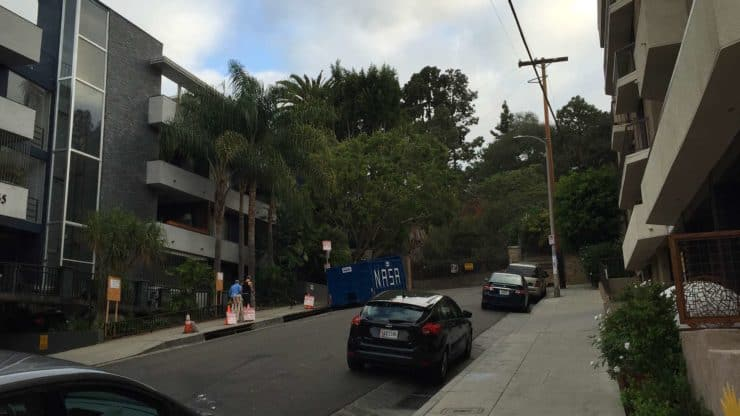 The Street Outside Of Runyon Canyon Park Entrance