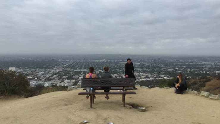 Bench Overlooking Los Angeles