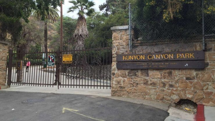 Runyon Canyon Park Entrance Sign