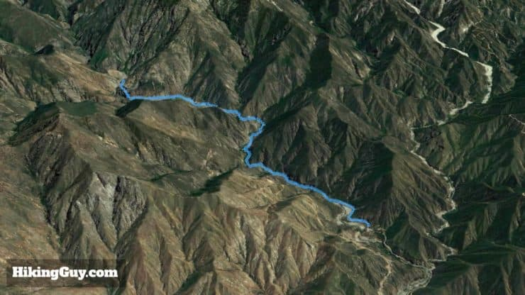 3d Map Of Bridge To Nowhere Hike
