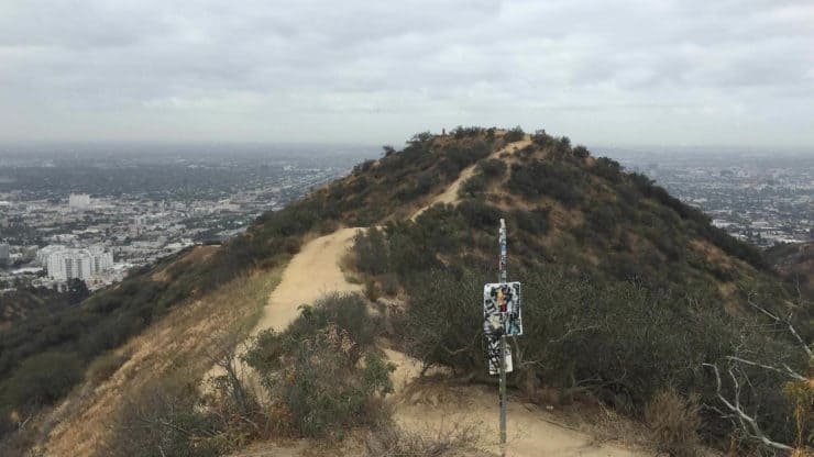 West Ridge Hiking Trails Overlooking La