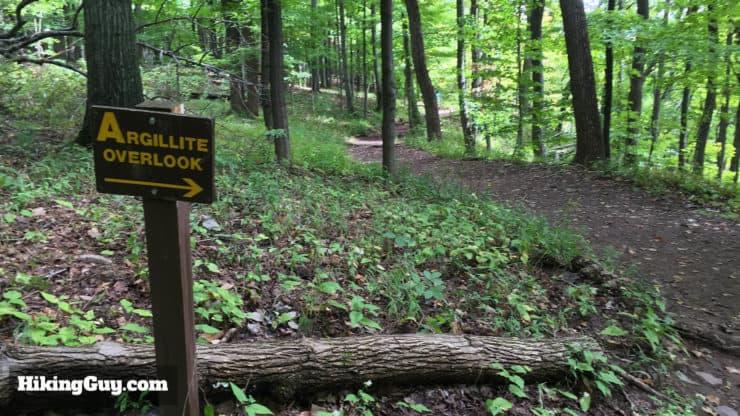Argillite Overlook sign
