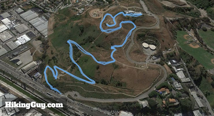 Baldwin Hills Scenic Overlook hike 3d map