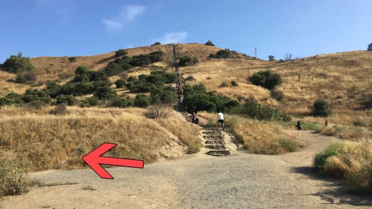 Baldwin Hills Scenic Overlook hike switchbacks