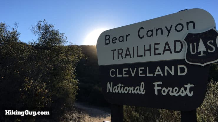 Bear Canyon Trailhead sign