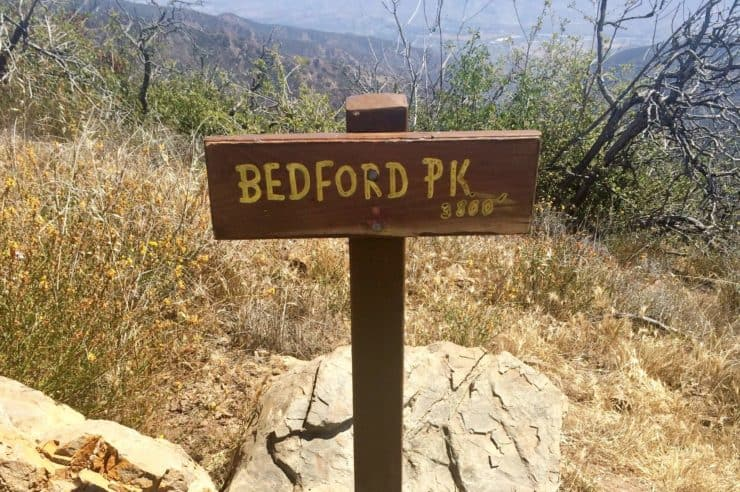 Bedford Peak Sign