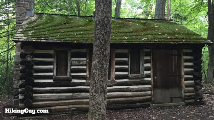 log cabin on bowmans tower hike