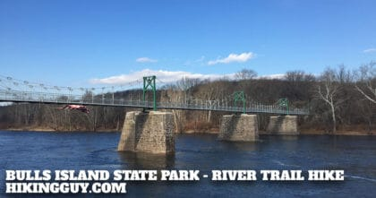 Delaware River Trail to Bulls Island State Park Hike