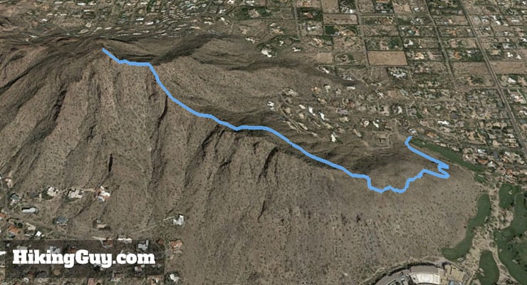 Camelback Mountain Hike 3d map