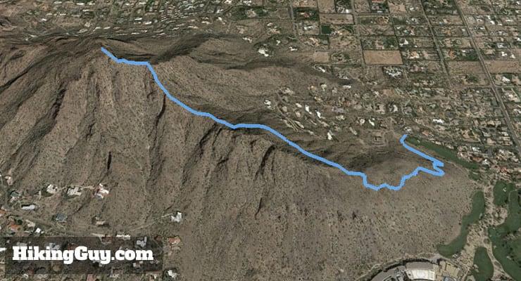 Camelback Mountain Hike 3d map