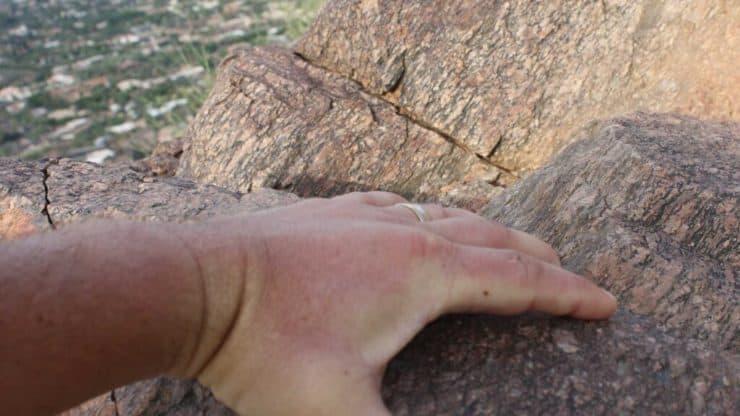 Camelback Mountain Hike rock scramble