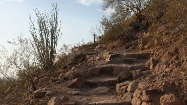 Camelback Mountain Hike rock stairs