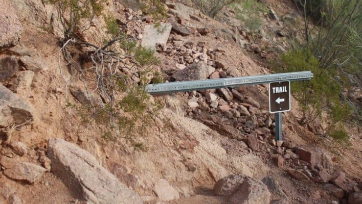 Camelback Mountain Hike sign