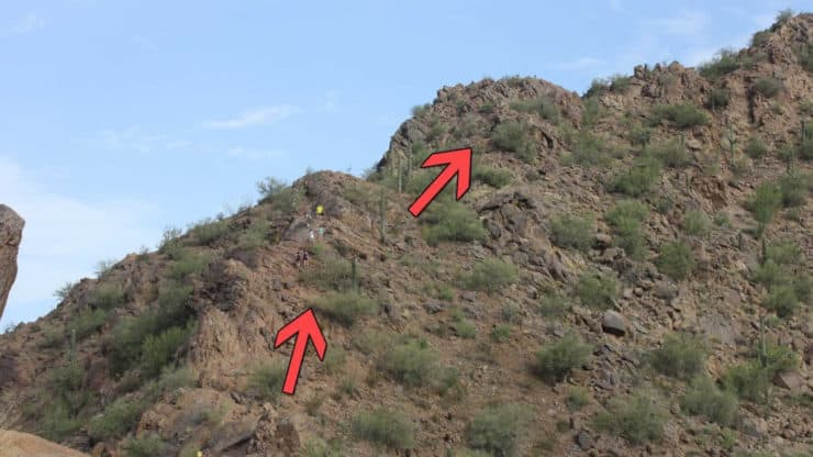 Camelback Mountain hikers