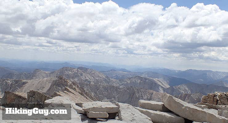 clouds on mt whitney hike