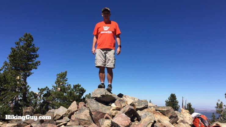 cris hazzard at San Bernardino Peak