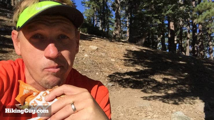 cris hazzard eats during hike