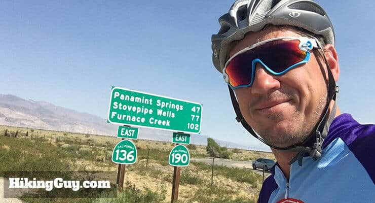 cris hazzard on bike to death valley