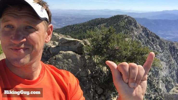 cris hazzard on Cucamonga Peak Hike