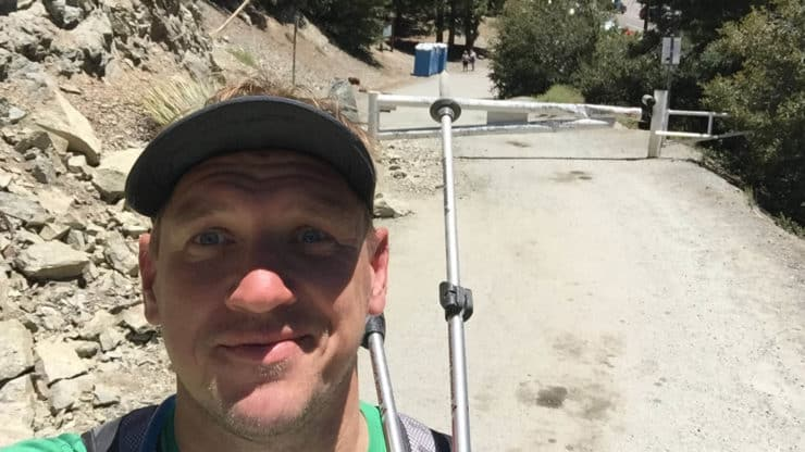 cris hazzard on mt baldy hike
