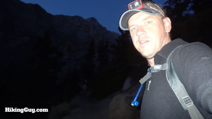 cris hazzard on mt whitney hike