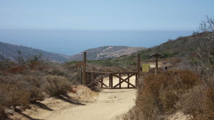Crystal Cove Hike gate