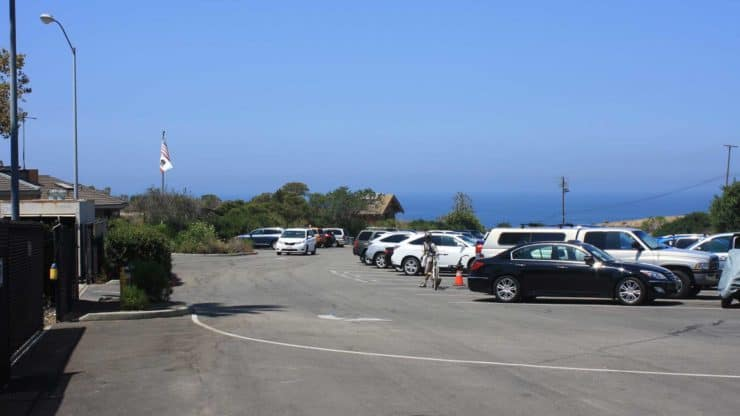 Crystal Cove State Park parking lot