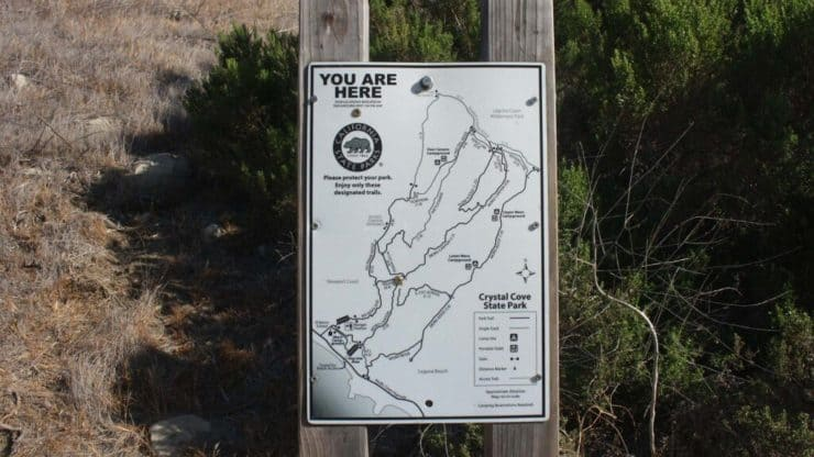 Crystal Cove State Park trail maps