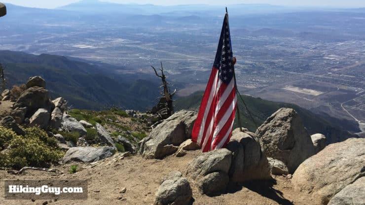 Cucamonga Peak flag
