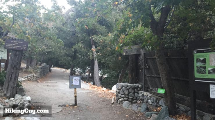 Cucamonga Peak Hike trailhead