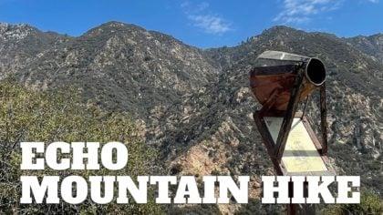 Echo Mountain Hike on the Sam Merrill Trail