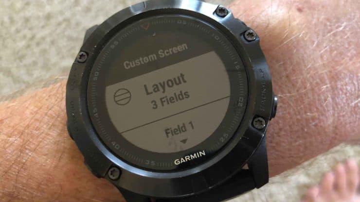 Fenix 5x Custom Layout