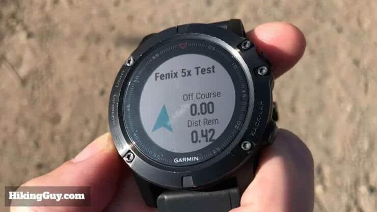 Fenix 5x Follow Course Compass