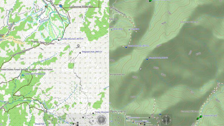 Fenix 5x Map Comparison