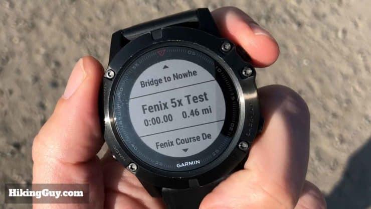Fenix 5x Test Course