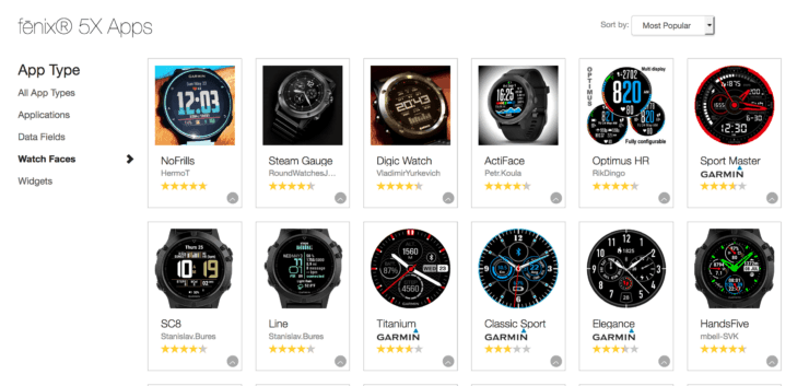 Fenix 5x Watch Faces