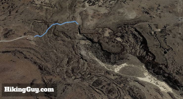 Fossil Falls Hike 3d map