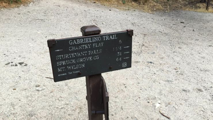Gabrielino trail sign