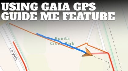 How to Use Guide Me on Gaia GPS When Hiking