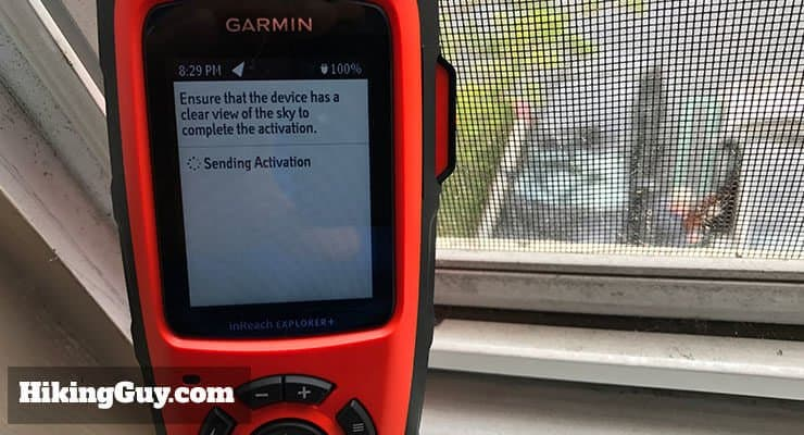 Garmin inreach activation