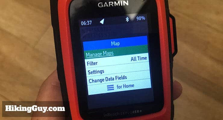 garmin inreach review maps