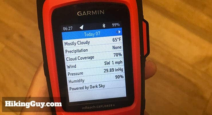 garmin inreach review weather