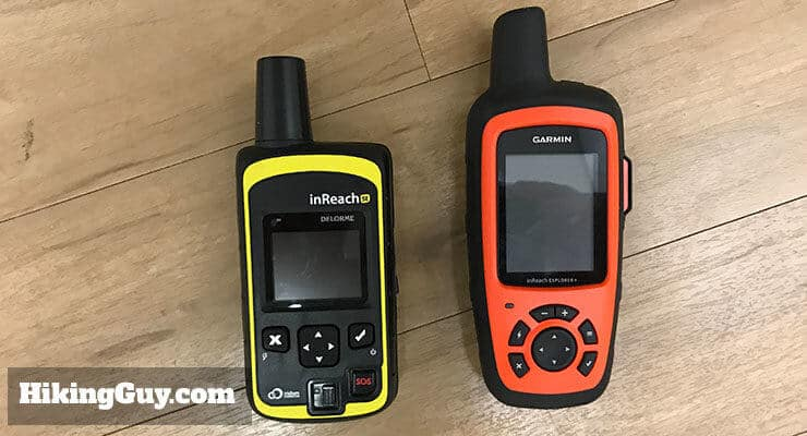garmin inreach review Delorme next to Garmin