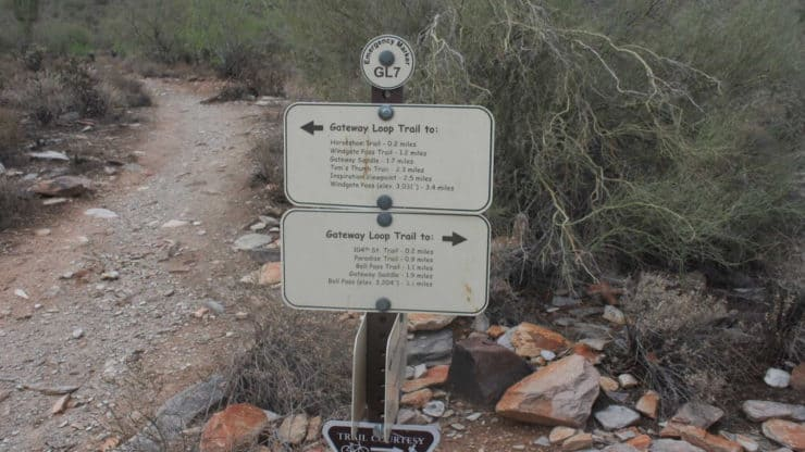 Gateway Loop trail sign