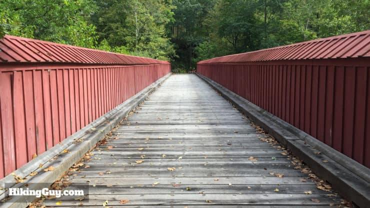 high rocks hike bridge