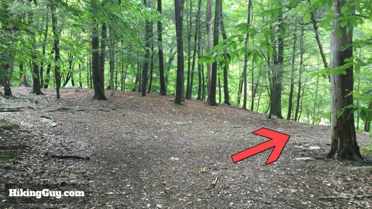 high rocks hike trail hard right