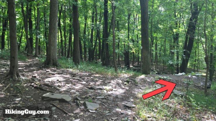 high rocks hike trail right turn