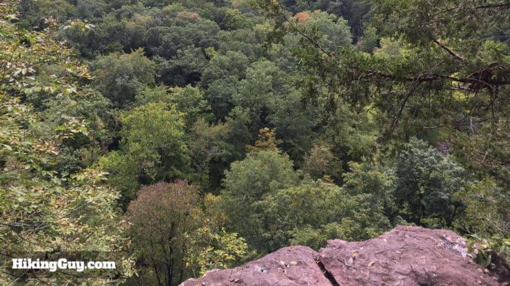 high rocks hike views