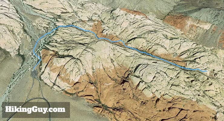 Hike Calico Tanks Trail 3d map