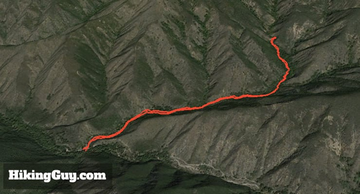 Hike Holy Jim Falls Trail 3d map